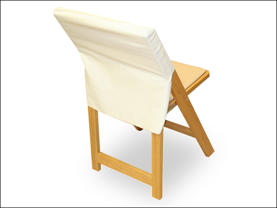 Half Back Cream Chair Cover